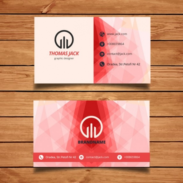 Red abstract Name card Design