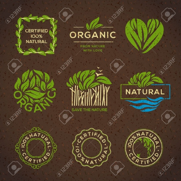 Restaurant Organic Food Labels Design
