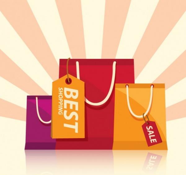 Retro Bag Tag Layout Design