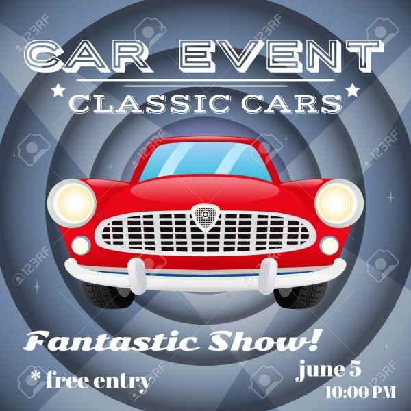Retro Classic Cars Show Event Flyer