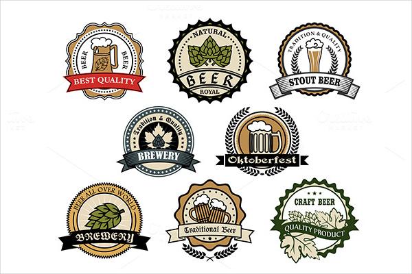 Retro Designed Brewery & Beer Label