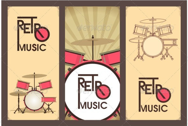 Retro Music Banner Template