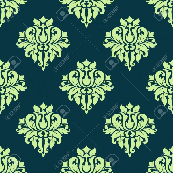 Retro Seamless Flourish Pattern