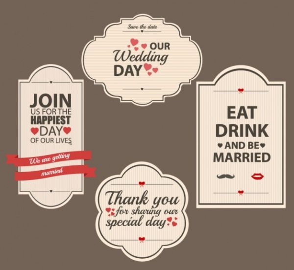 21 wedding label designs jpg vector eps download