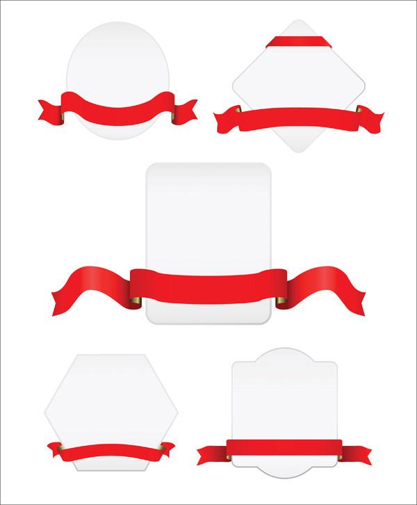 Ribbon and Tag Free Vector