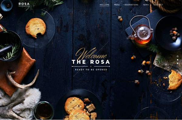 Rosa Restaurant Website Design