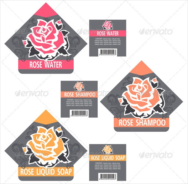 Rose Cosmetics Labels