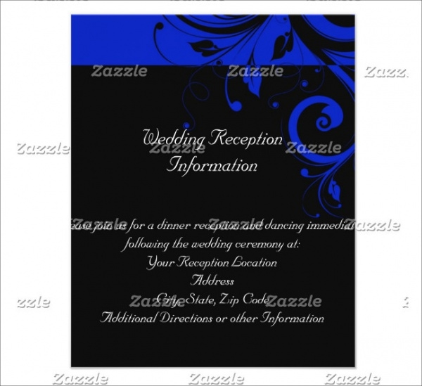 Royal Blue Reverse Swirl Wedding Flyer