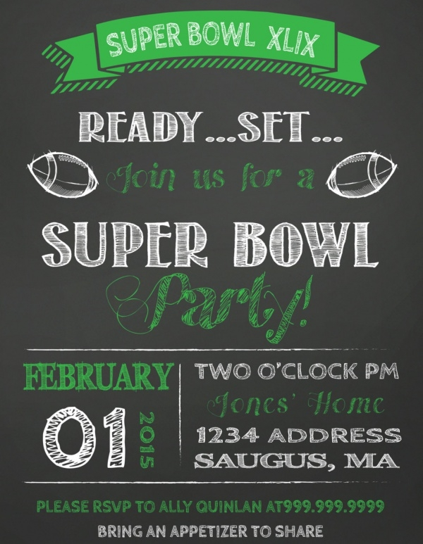 21+ Super Bowl Invitation Designs - PSD, Vector EPS, JPG ...
