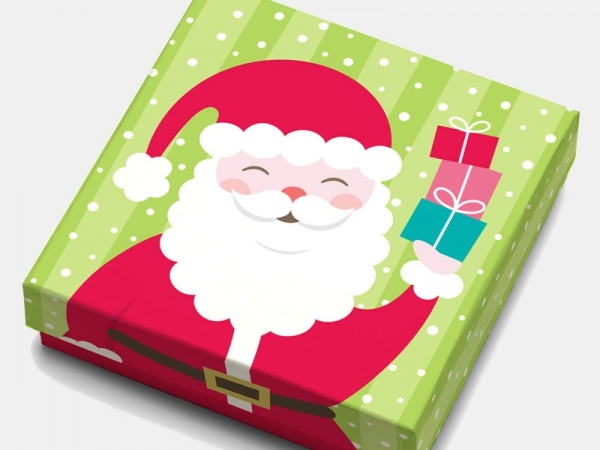 Santa Gift Card Box Packaging