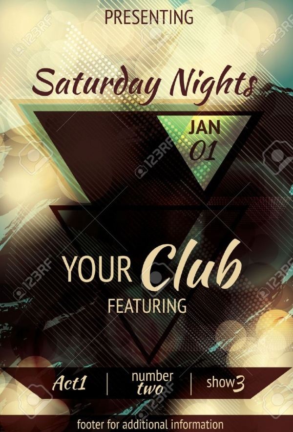 Saturday Light Effect Club Flyer Design