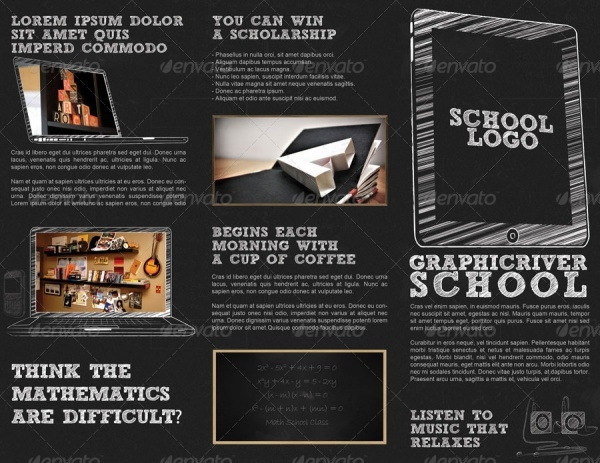 School Tri-Fold Brochure Presentation