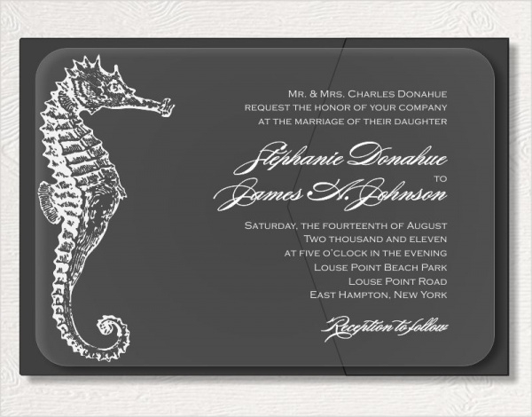 Sea Acrylic Invitation Design Template