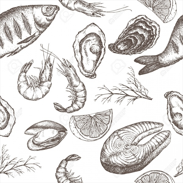 Sea Food Label Design