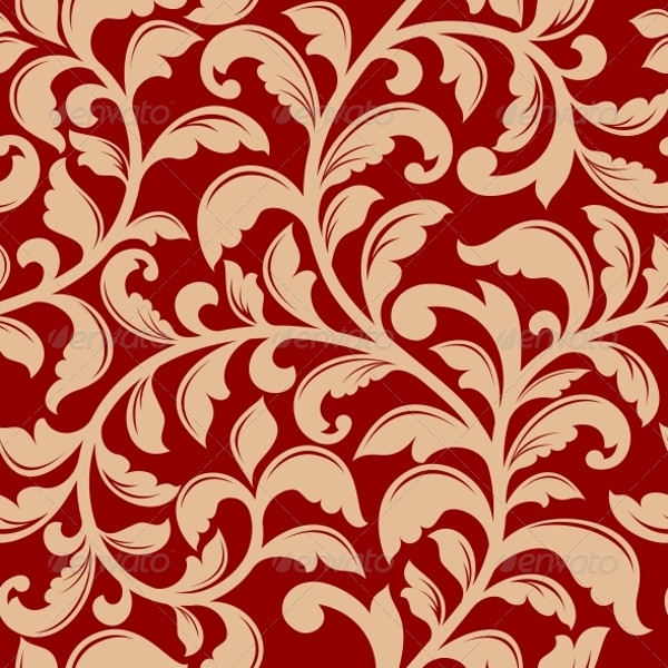Seamless Vector Flourish Pattern