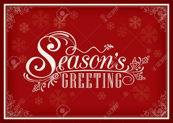 Season Greeting Card Word Design