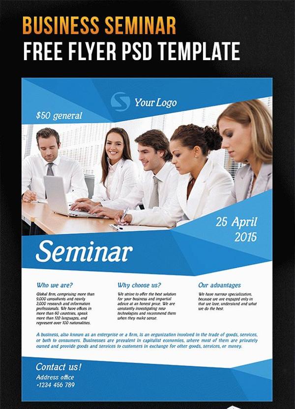 Seminar – Free Flyer PSD Template