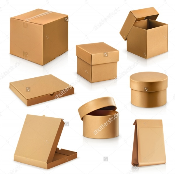 set cardboard boxes product packaging