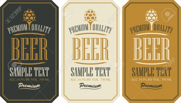Set Labels For Beer Retro Style