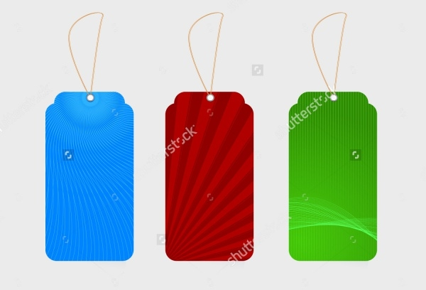 Set Of Colorful Swing Tag Design