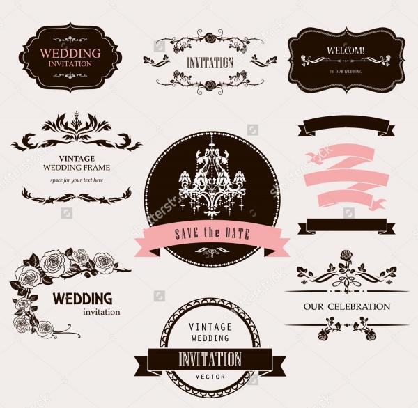 Set of Vintage Wedding Label