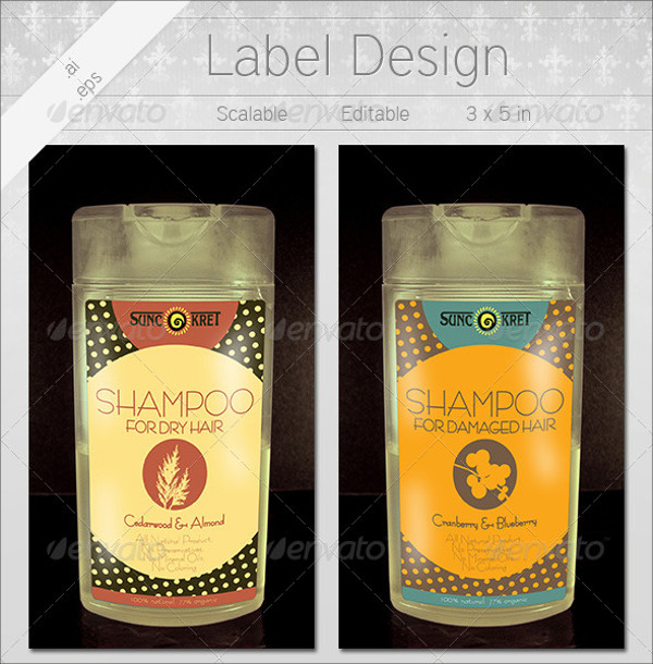 Shampoo Bottle Labels