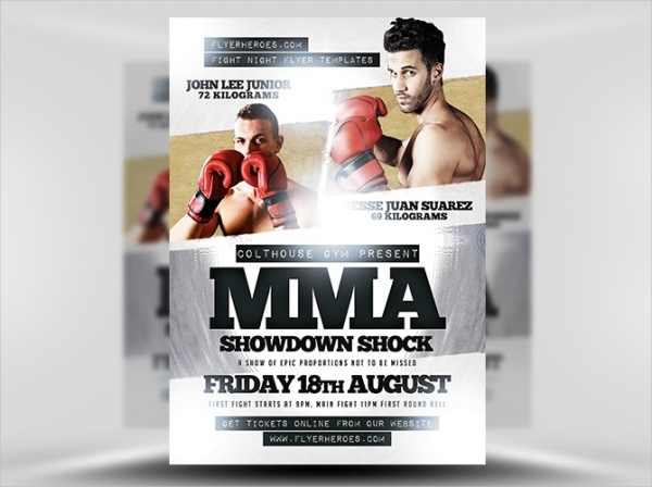 Showdown Shock Boxing Flyer Template
