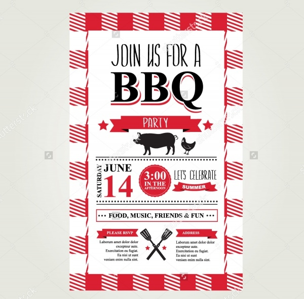 Simple BbQ Invitation Design
