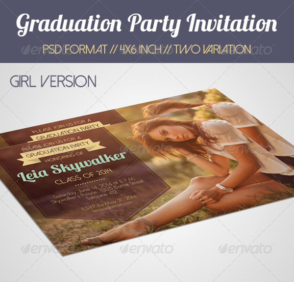 Simple Printable Graduation Party Invitation