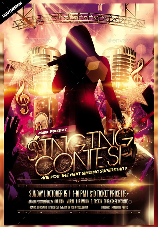 Singing Contest Talent Show Flyer