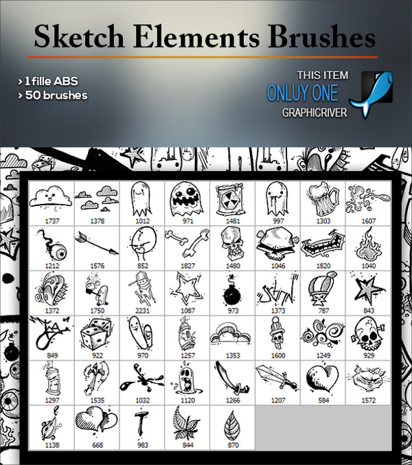 Sketch Element PS Brushes