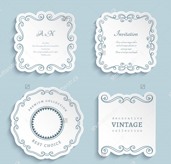 Small Wedding Label Design