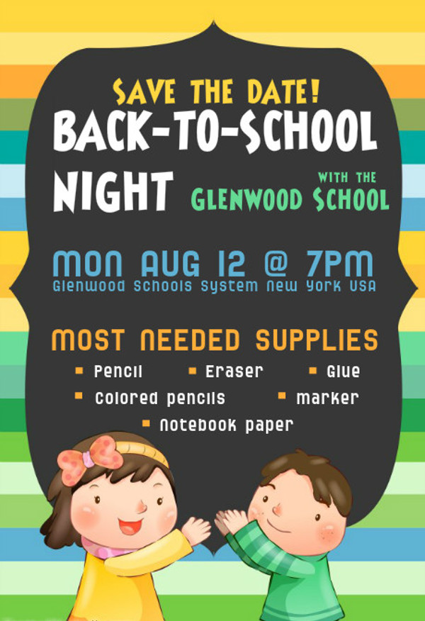 Smart Layered Back 2 School Flyer