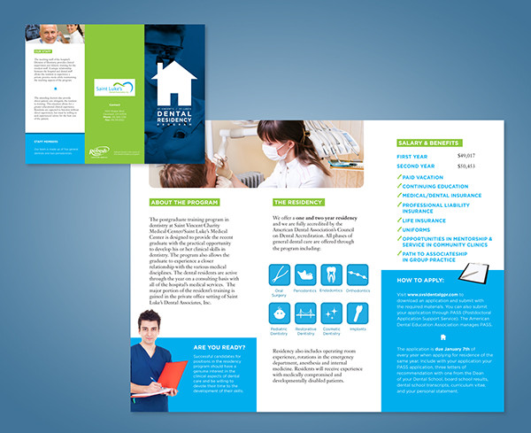 smart layered dental brochure