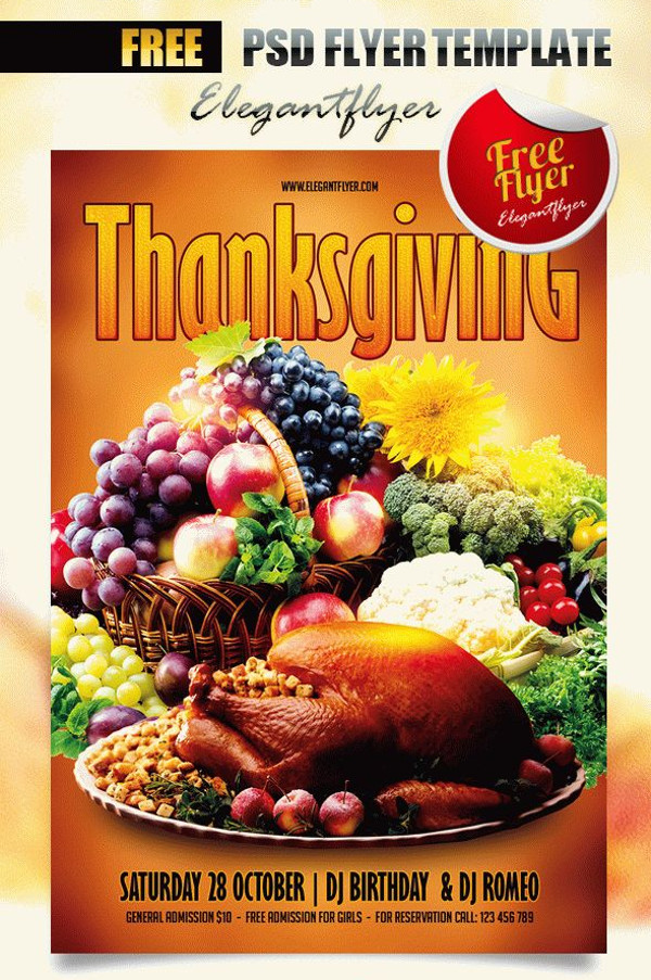 Smart Layered Thanksgiving Flyer