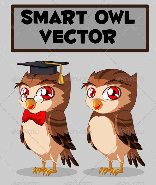 Smart Owl Png Vector