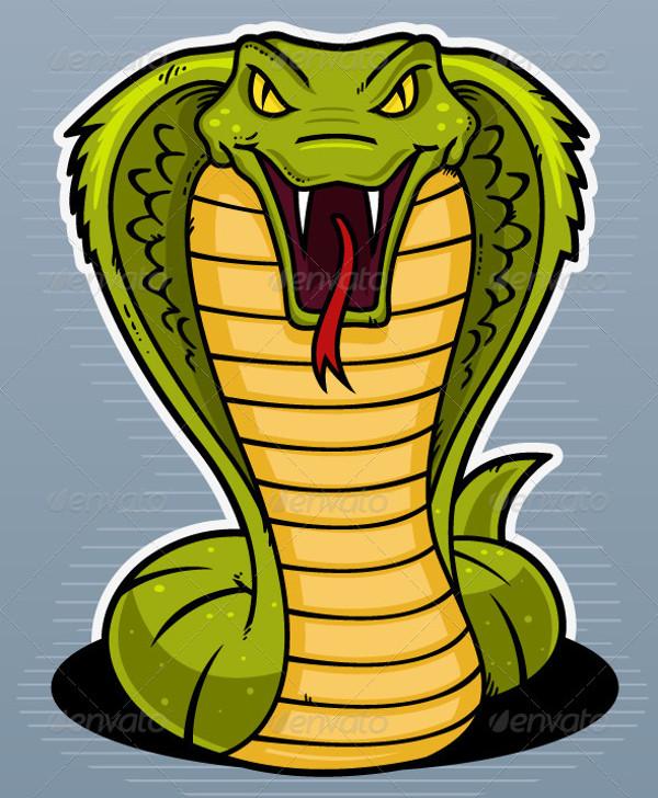 Snake Head Vector Illustration