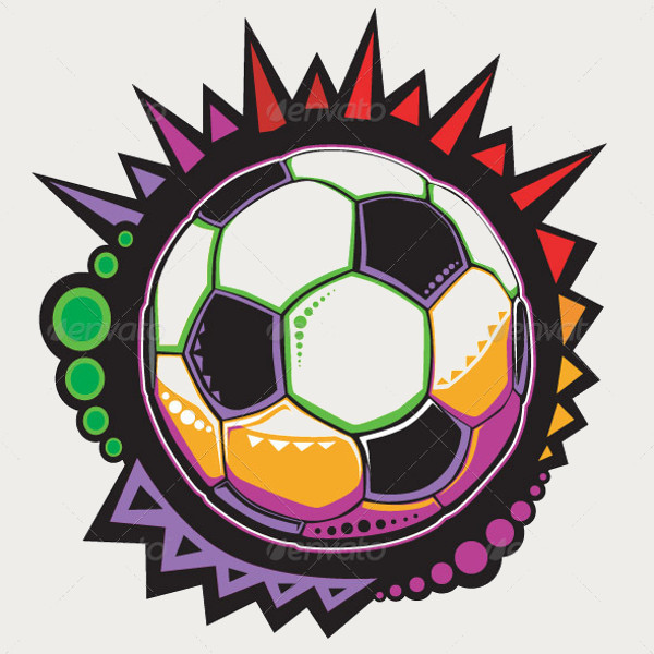 Soccer Ball Colorful Mosaic Vector Design