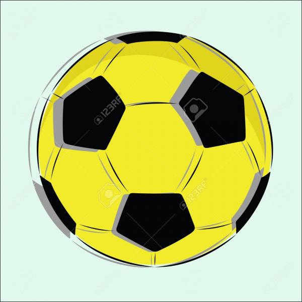 Soccer Ball Grunge Vector