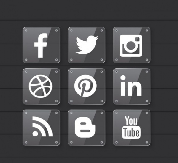 Social Media Transparent Icons Material