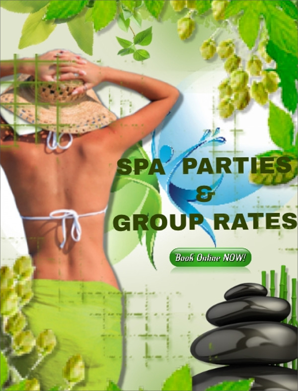 Spa Online Party invitation