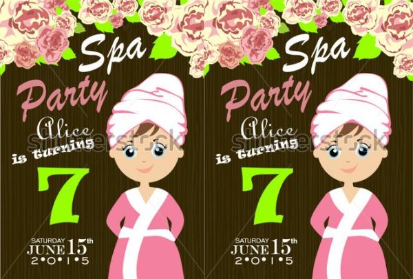 spa party invitation design