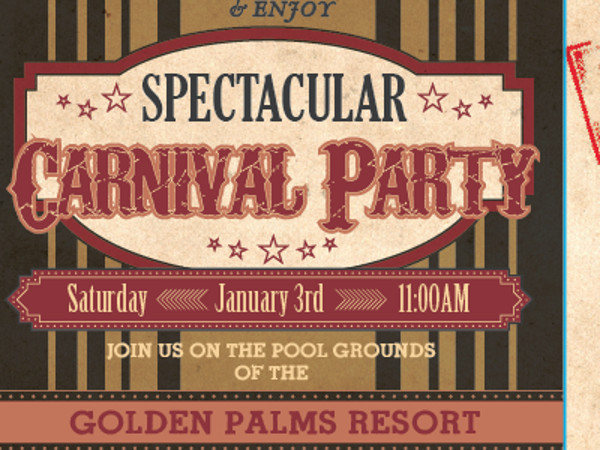 Spectacular Carnival Party Invite