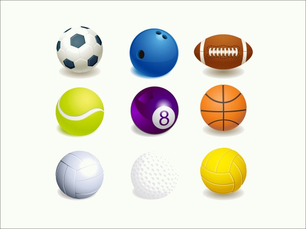 Sport Ball Collection graphic Vector