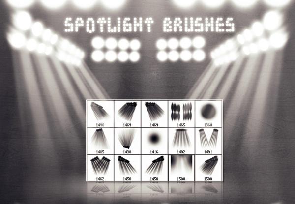 Spotlight Photoshop Brush Set