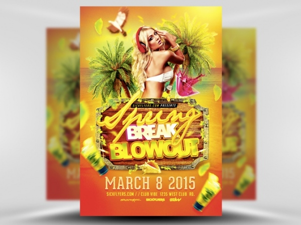 Spring Break Blowout Flyer Template