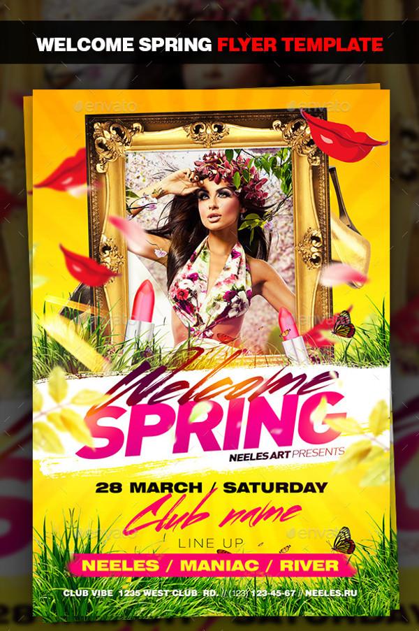 Spring Event Flyer Design
