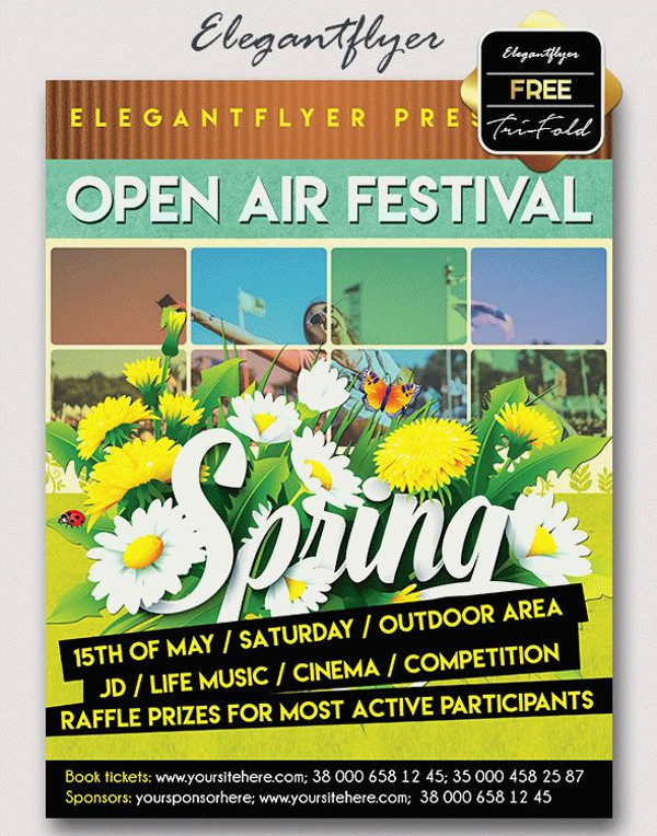 Spring Festival – Free PSD Flyer Template