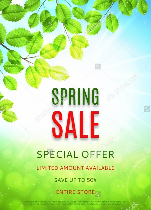 Spring Sales Flyer Design