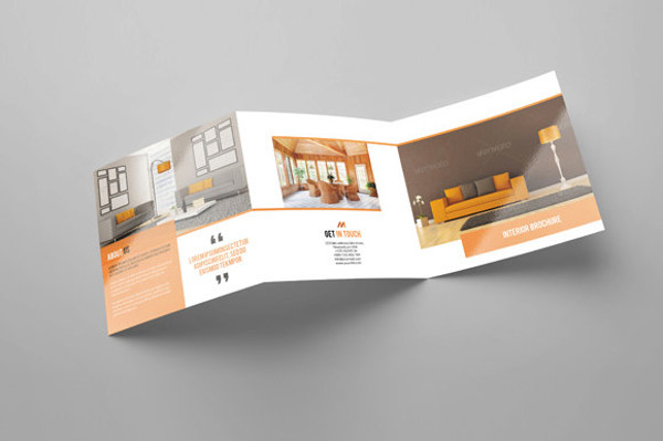 Square Trifold Interior Design Brochure